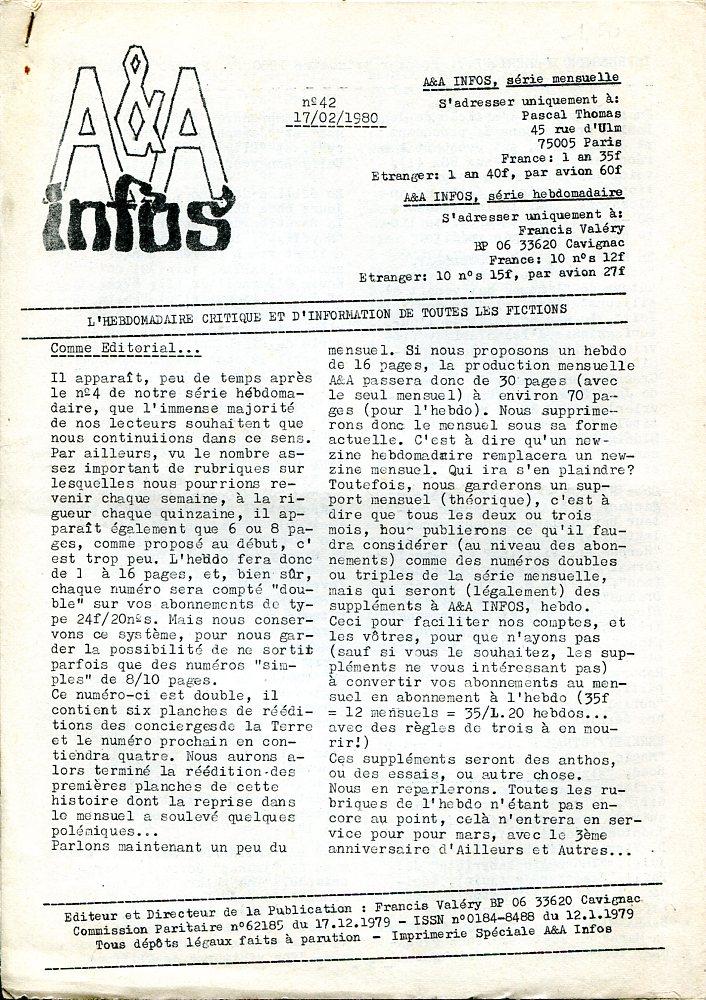 A & A Infos n° 42