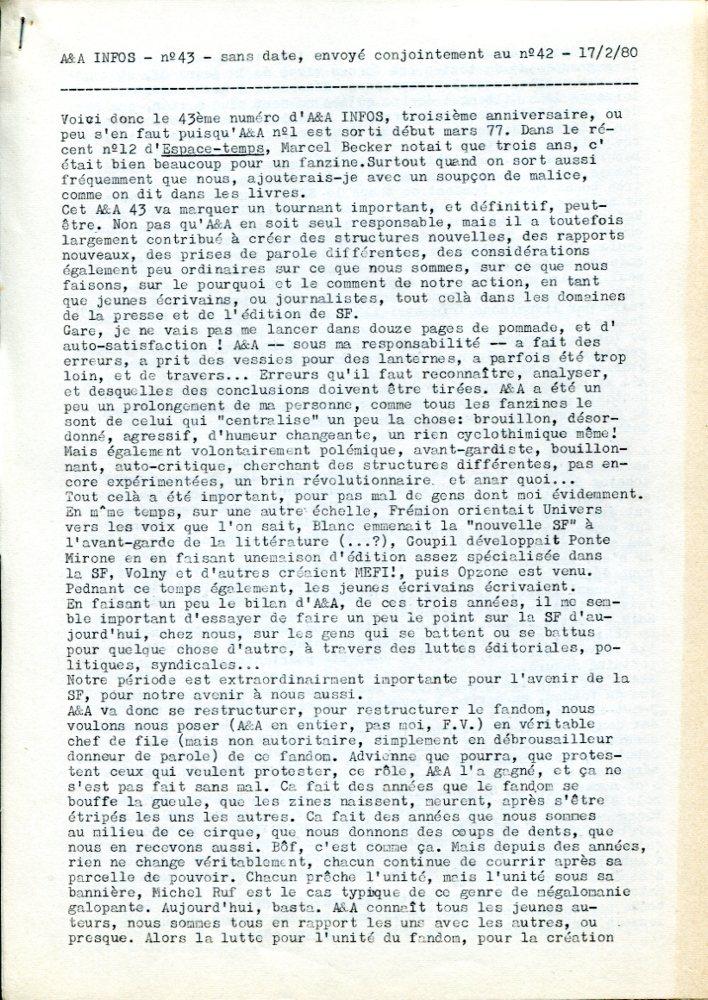 A & A Infos n° 43