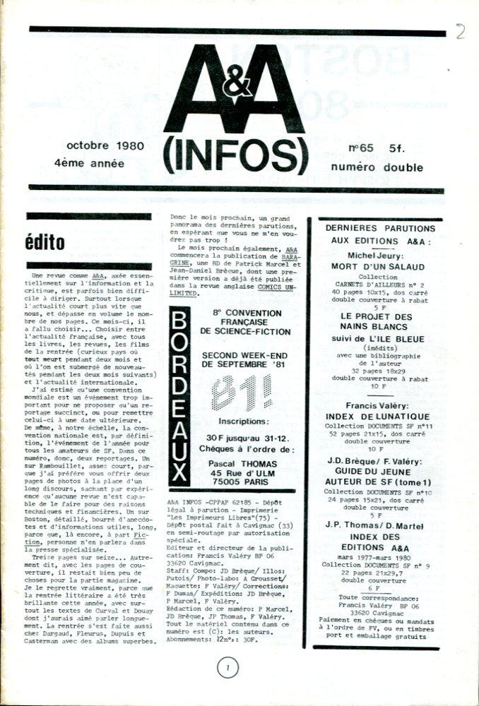 A & A Infos n° 65