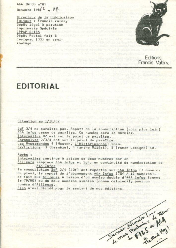 A & A Infos n° 81