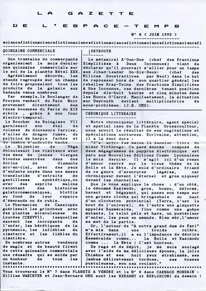 La Gazette de l'Espace-Temps n° 8