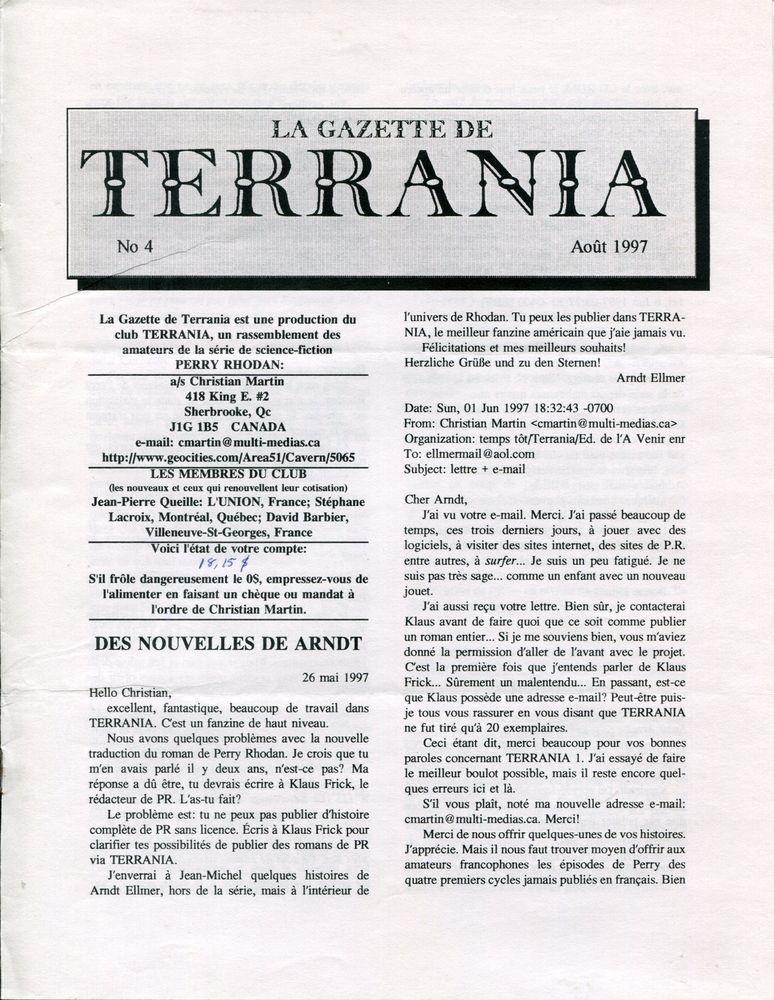 La Gazette de Terrania n° 4