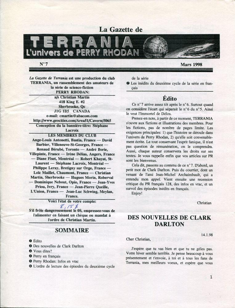 La Gazette de Terrania n° 7