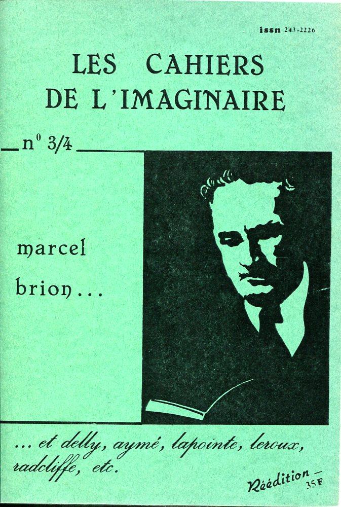 Les Cahiers de l'Imaginaire n° 3/4 : Marcel Brion