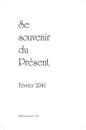 Se souvenir du présent