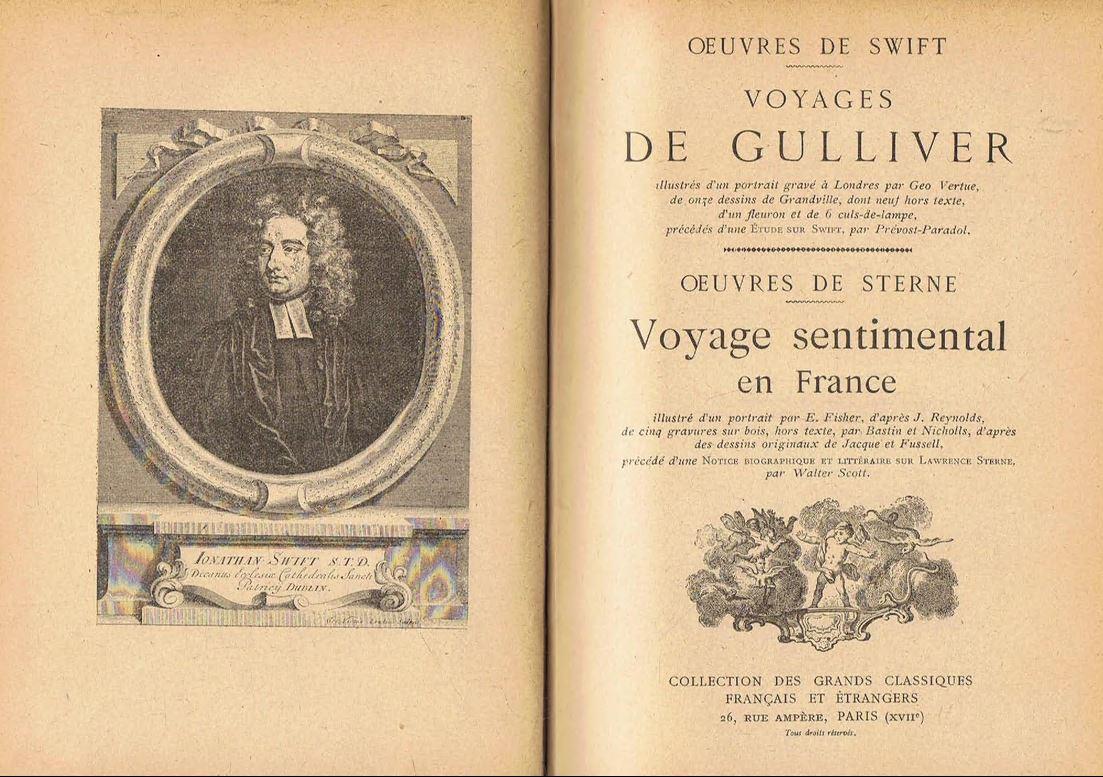 Voyages de Gulliver, suivi de Voyage sentimental en France