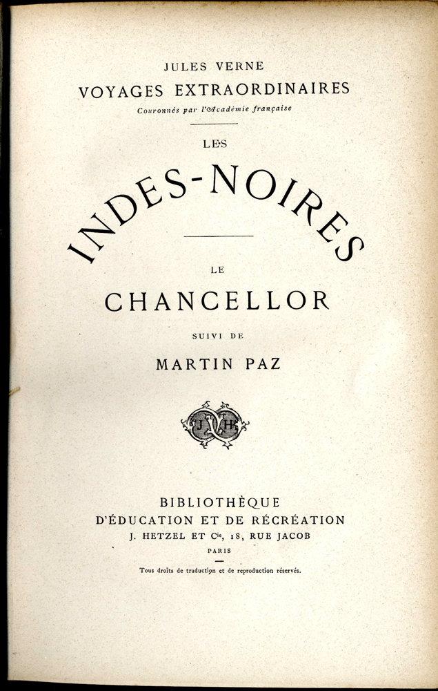 Les Indes noires / Le Chancellor