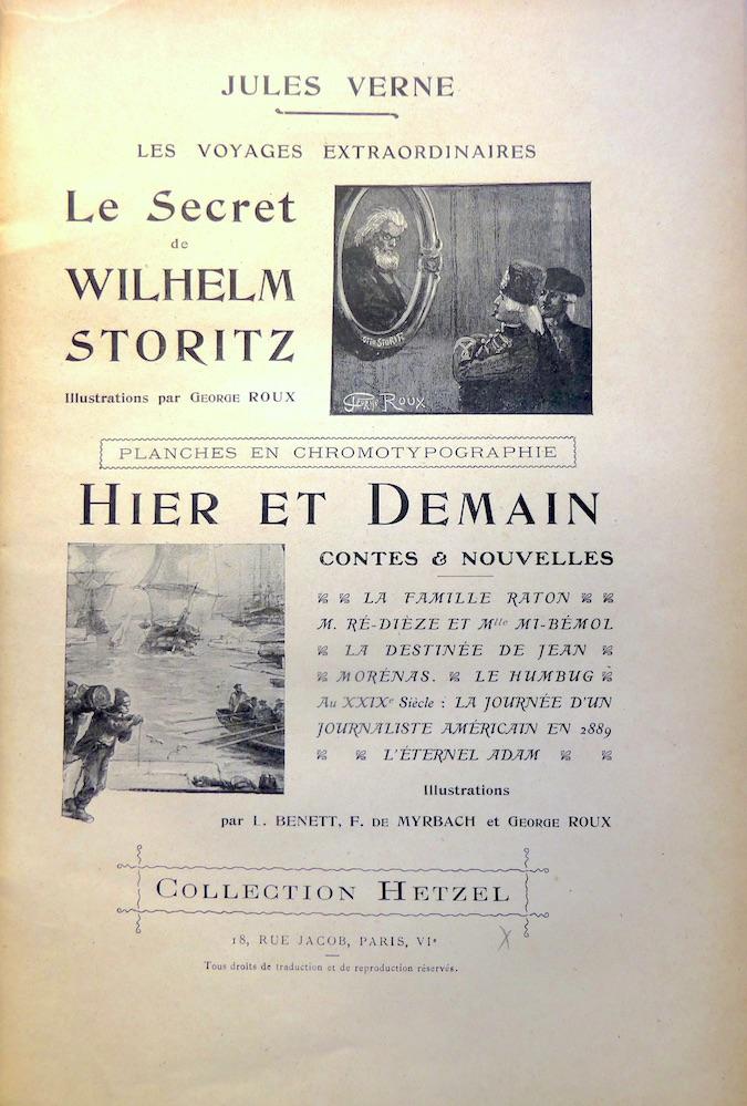 Le Secret de Wilhelm Storitz / Hier et demain