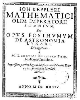 Somnium, seu Opus posthumum de astronomia lunari