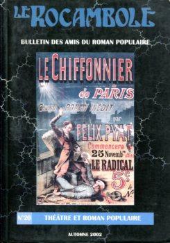 Le Rocambole n° 20 : Théâtre et roman populaire