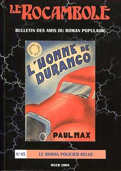 Le Rocambole n° 45 : Le roman policier belge