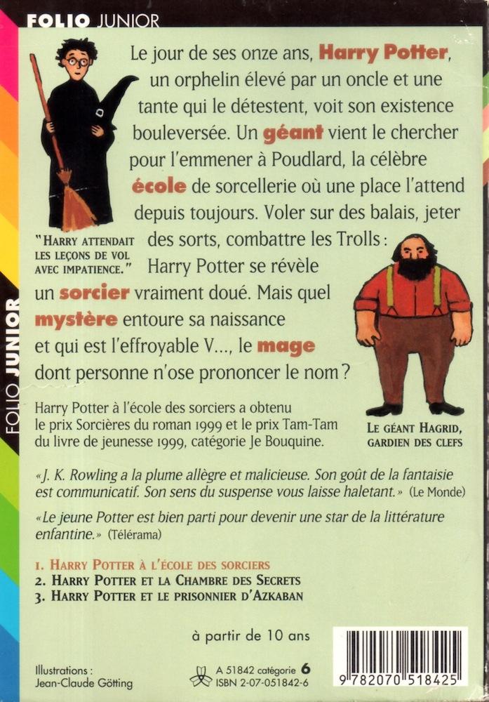 Harry Potter A L Ecole Des Sorciers J K Rowling Fiche