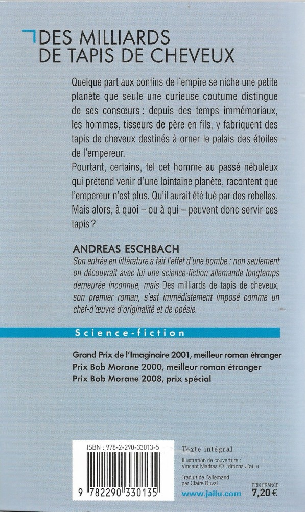 Des Milliards De Tapis De Cheveux Andreas Eschbach Fiche