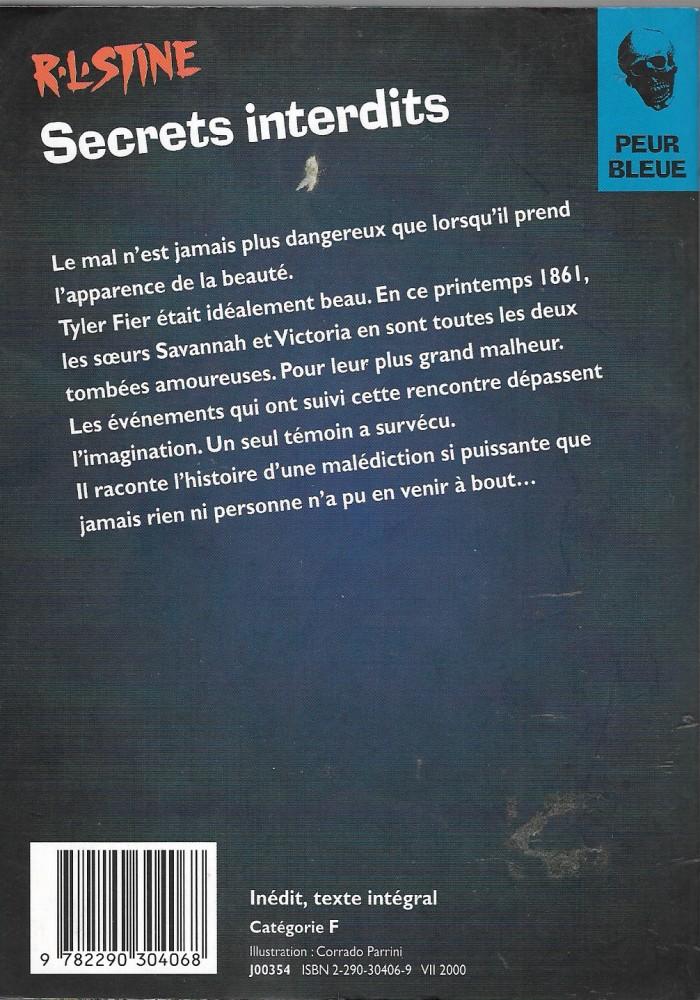 Secrets Interdits Robert Lawrence Stine Fiche Livre Critiques Adaptations Noosfere