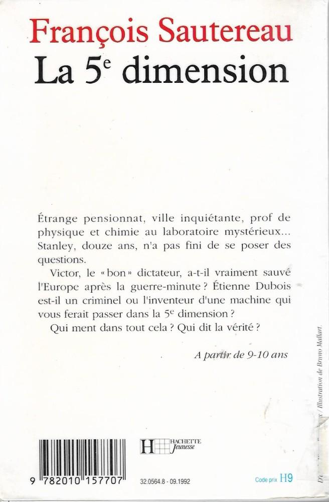 La 5eme Dimension Francois Sautereau Fiche Livre