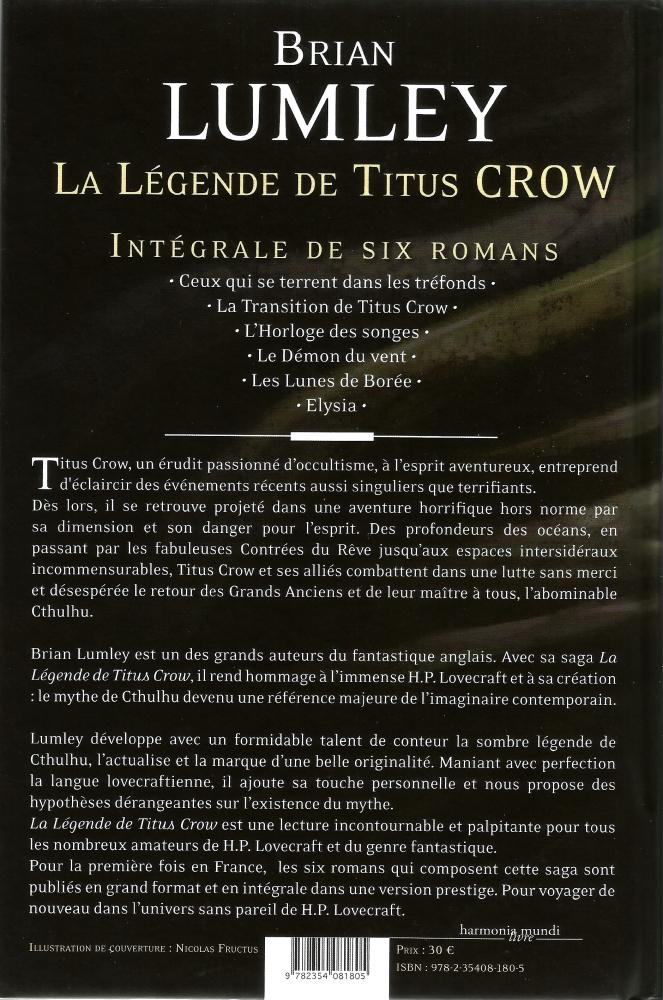 La Légende de Titus Crow - Intégrale