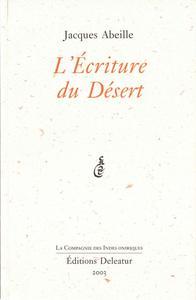L'Écriture du désert