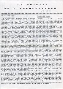 La Gazette de l'Espace-Temps n° 6