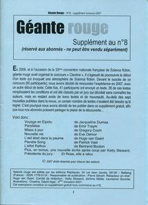 Géante Rouge n° 8 - supplément